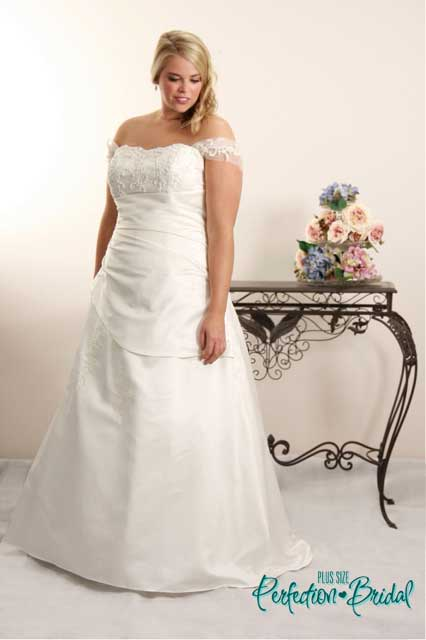 plus size white wedding dresses