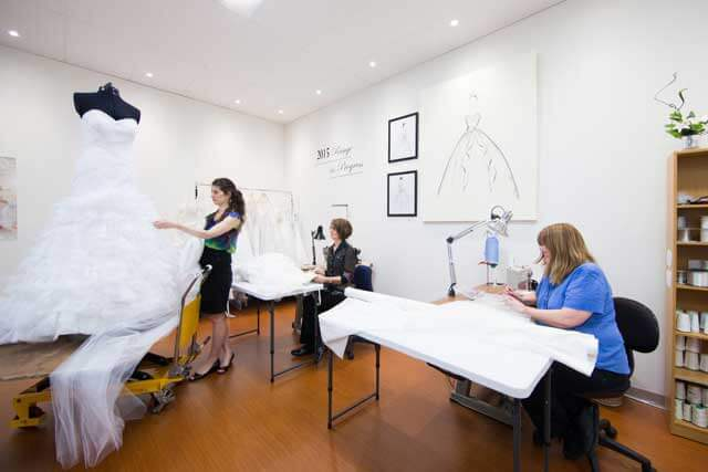 Making a plus size wedding gown