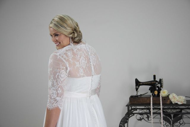 Back of Wedding dresses with sleeves