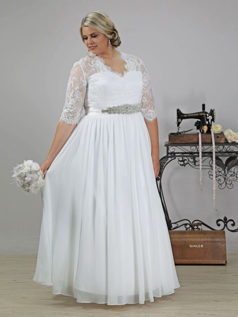 Wedding dresses with sleeves lace