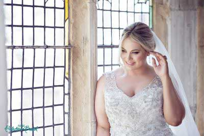 Beaded plus size wedding dresses Gwyneth