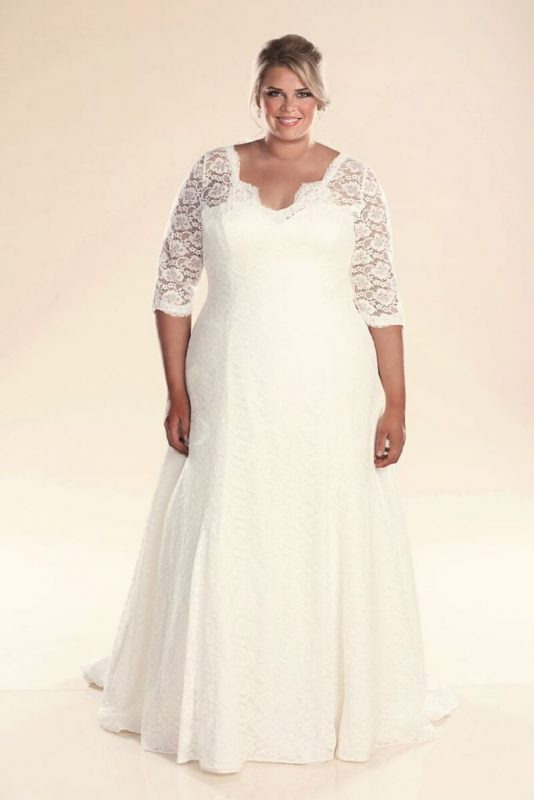 long sleeve wedding dress rosie full length