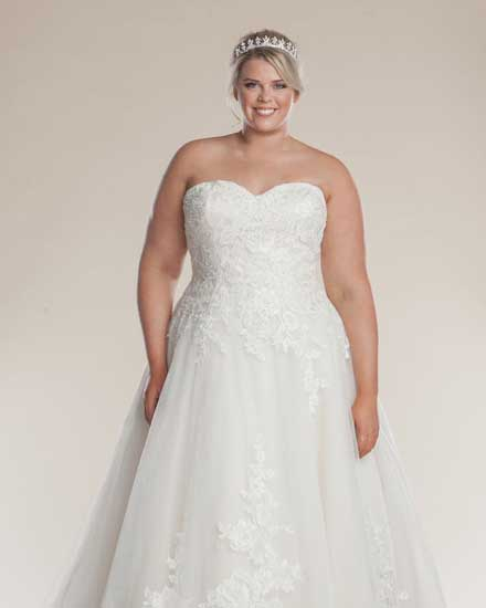 Paris strapless wedding dress