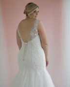Genevieve fit and flare wedding dress mermaid style