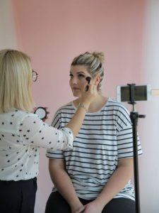 bridal make over then the concealer and foundation