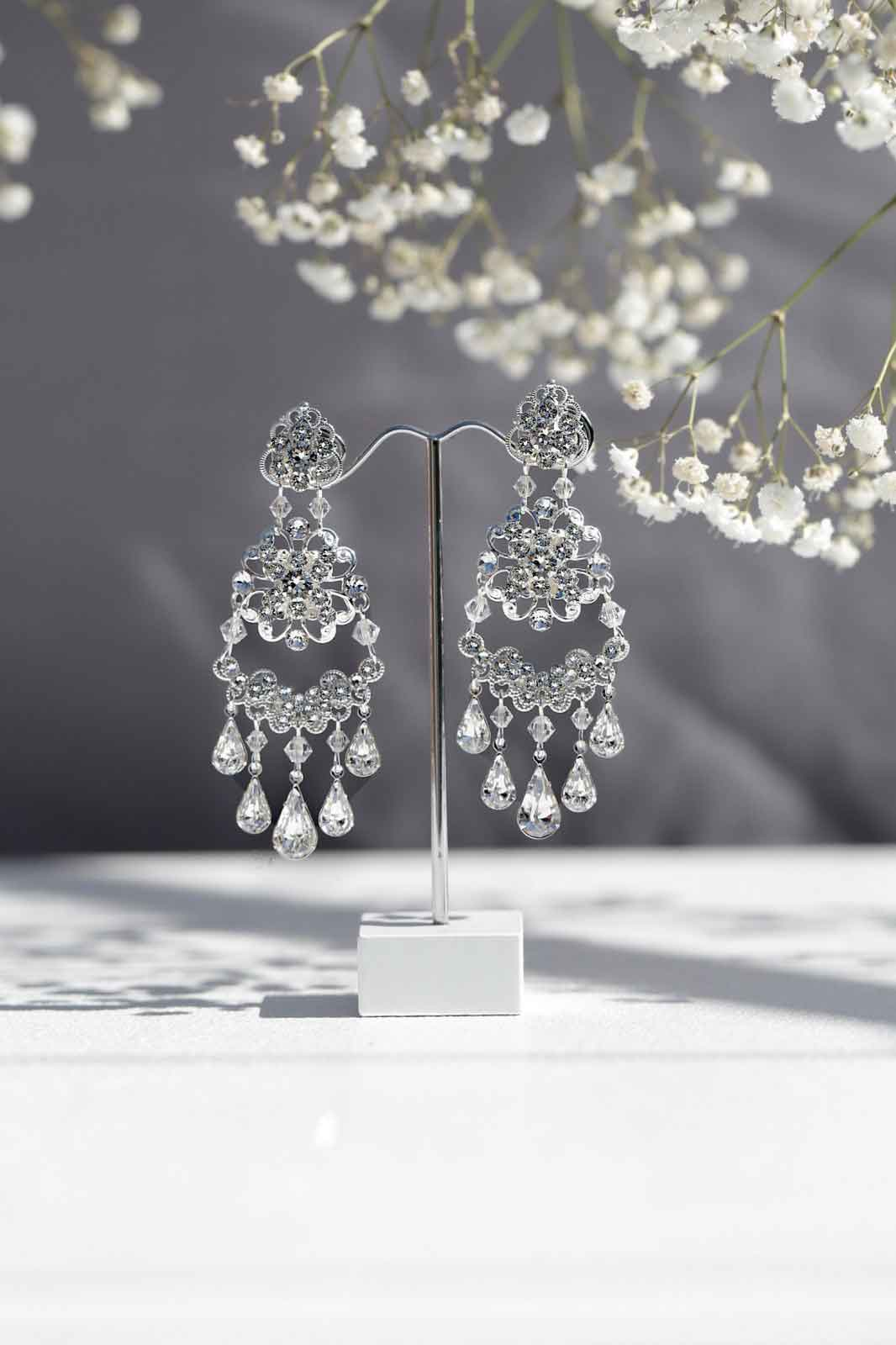Wedding chandelier earrings