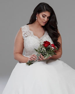Isabella lace wedding dresses with straps