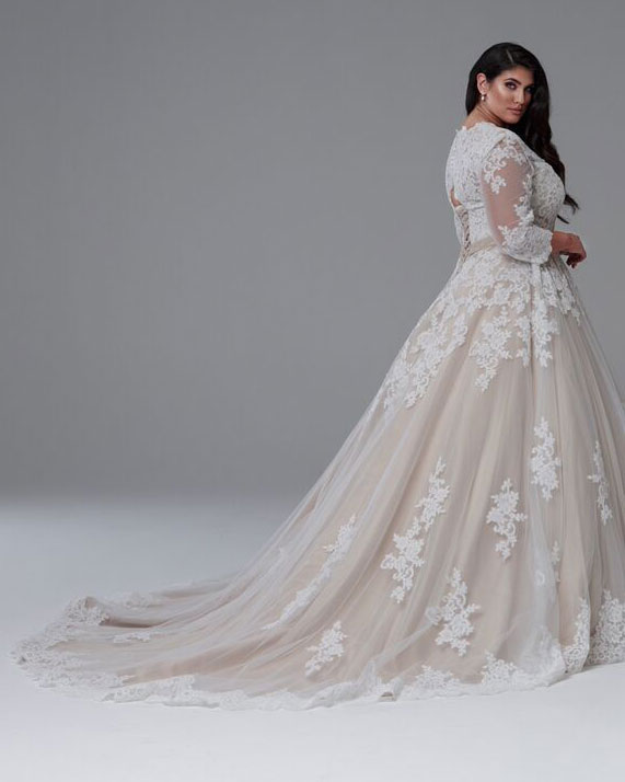 Long sleeve wedding dresses Melbourne the Grace