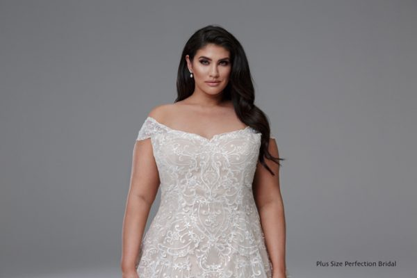 latte plus size coloured wedding dresses