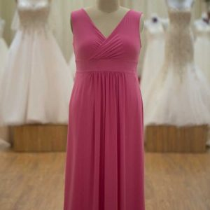 plus size bridesmaids dress pink
