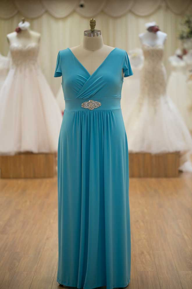 Light blue bridesmaids dresses plus size