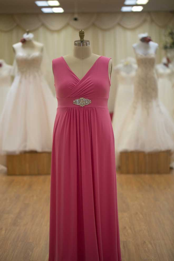 plus size pink bridesmaids dress
