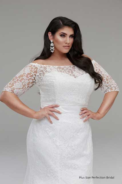 Lace wedding dress jacket plus size