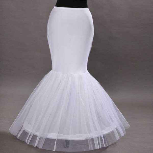 Plus size mermaid wedding dress petticoats