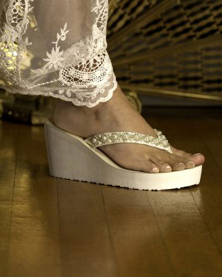Wedding shoes wedding flip flops