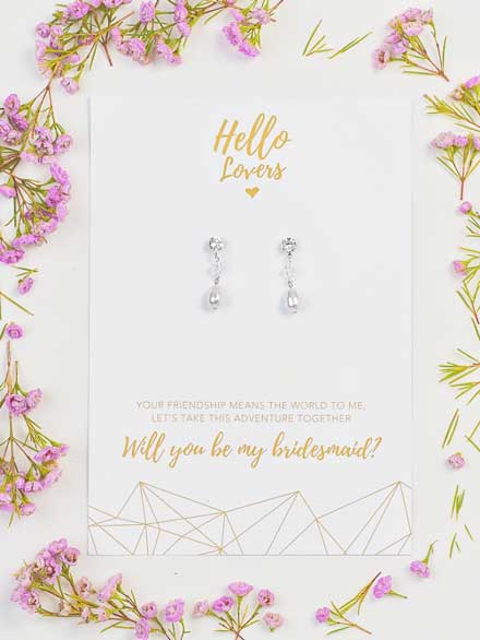 Wedding earrings for bridesmaids