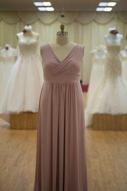Long pink bridesmaids dresses Melbourne