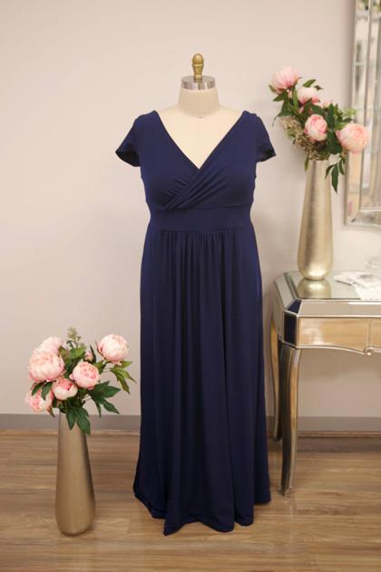 Long navy formal dresses