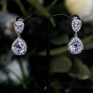Silver wedding earrings Sophia
