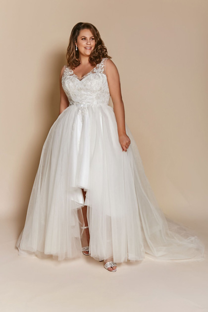 short high low wedding dress Luna
