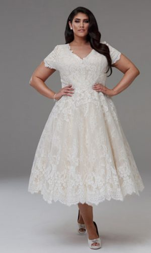 Short style plus size wedding dress Dianna