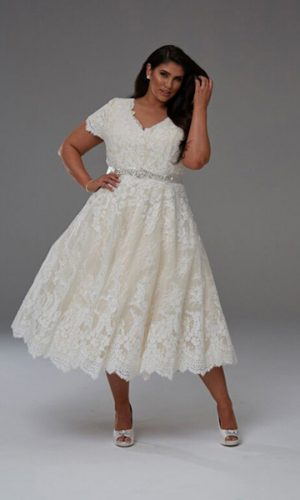Fun and flirty short wedding dress Dianna