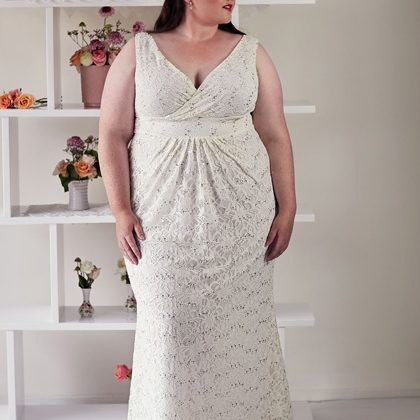 Plus size gown Lucy boho style