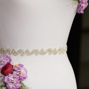 Crystal evening belt plus size