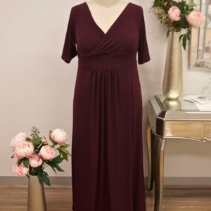 Long sleeve black bridesmaid dress